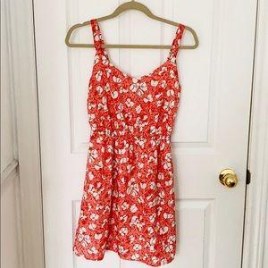 BeBop Red Floral Dress
